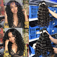 Brazilian Hair Weave Bundles Loose Wave Bundles Human Hair Extensions 3 Pieces Remy Aimoonsa Hair Products