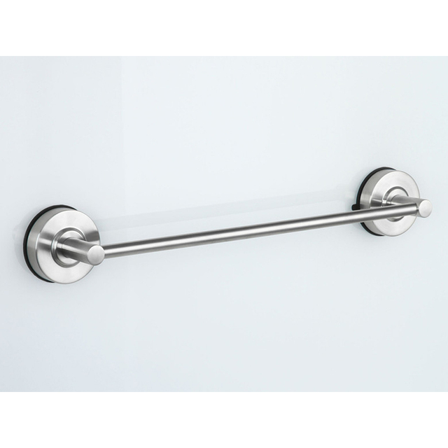 Bathroom Towel Rack 40cm Stainless Steel Single Tier Suction Cup Bars Kitchen Holder