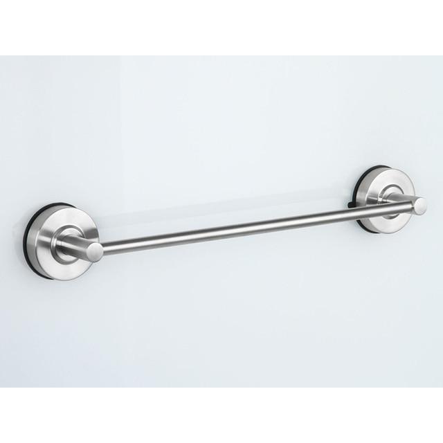 bathroom towel rack 40cm stainless steel single tier suction cup