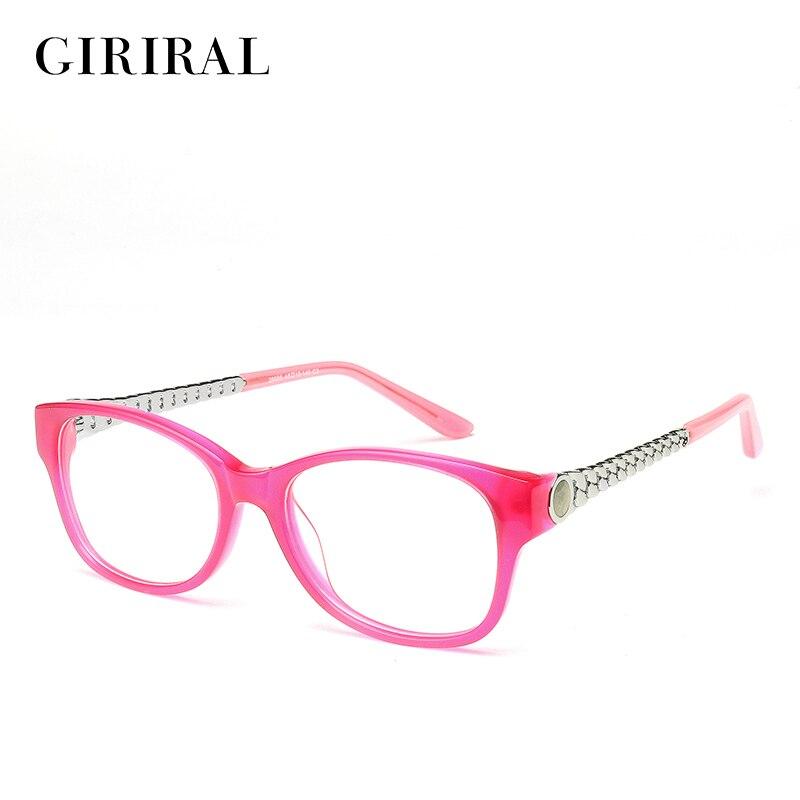 2018 Acetat Frauen Brille Rahmen Klar Vintage Transparent Mode Retro Designer Myopie Gläser Rahmen #2-29006