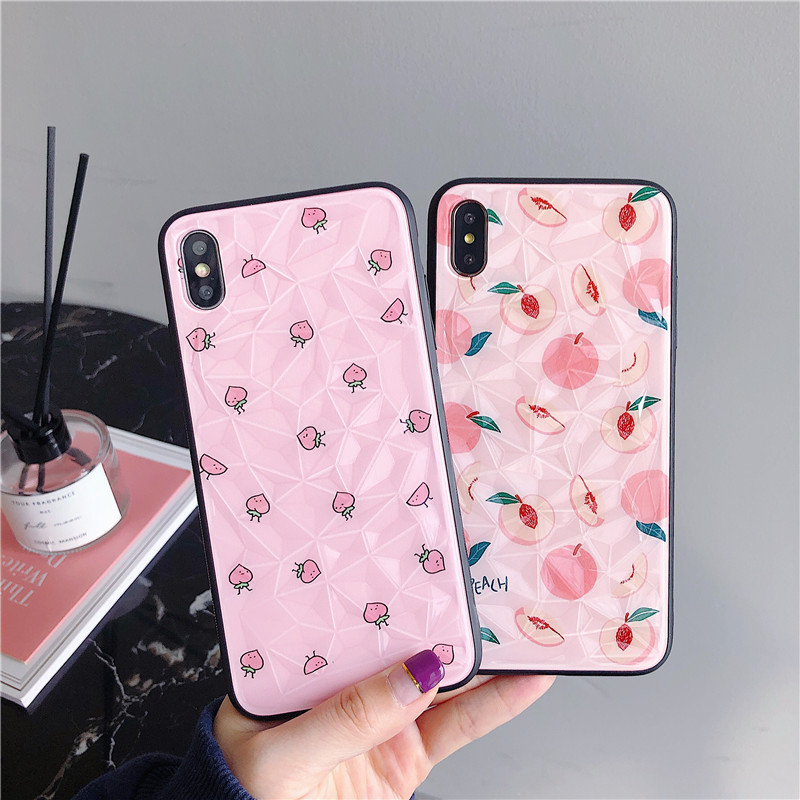 New Summer Fresh Peach Patterned Cases for Huawei Mate 20