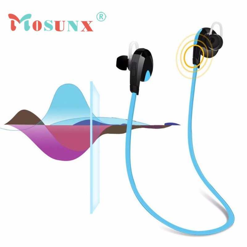 Mosunx New 2017 High Quality Bluetooth Wireless Handfree Headset Stereo Headphone Earphone Sport Universal JU4 factory price bluetooth wireless handfree headset stereo headphone earphone sport universal jy26 drop shipping high quality