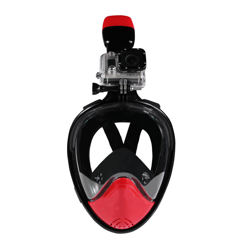 ФОТО New Arrival Underwater black easy breath dive snorkel Mask Anti Fog Full Face 180 degree wide view Smooth Training Equipment