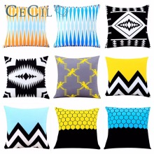 Home Decor Cushion Cover Geometric Simple Fashion Small Fresh Pillowcase Living Room Sofa Seat Decorative Throw Pillow Covers