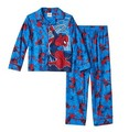 Free Shipping 6 Sets/lot  New 4-10T Spider-Man's children  pajamas Boy Spiderman button cardigan suit