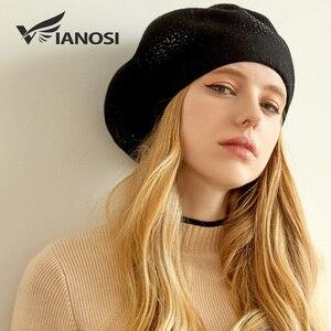 Image 3 - VIANOSI Wool Beret Female Winter Hats For Women Flat Cap Knit Cashmere Hats Lady Girl Berets Hat Female