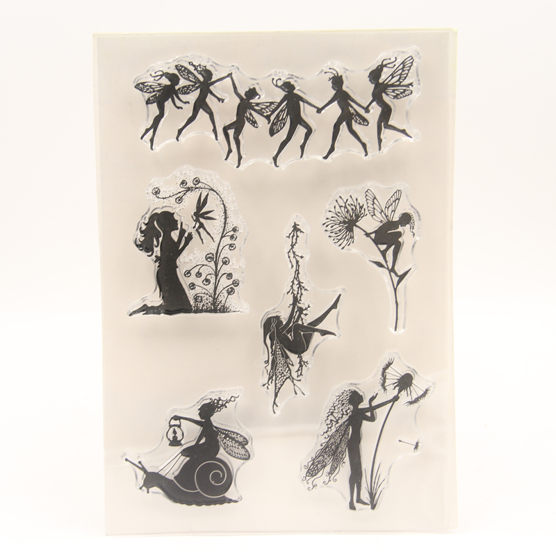 ZFPARTY Fairy Transparent Clear Silicone Stamp For DIY Scrapbooking/photo Album Decorative Card Making