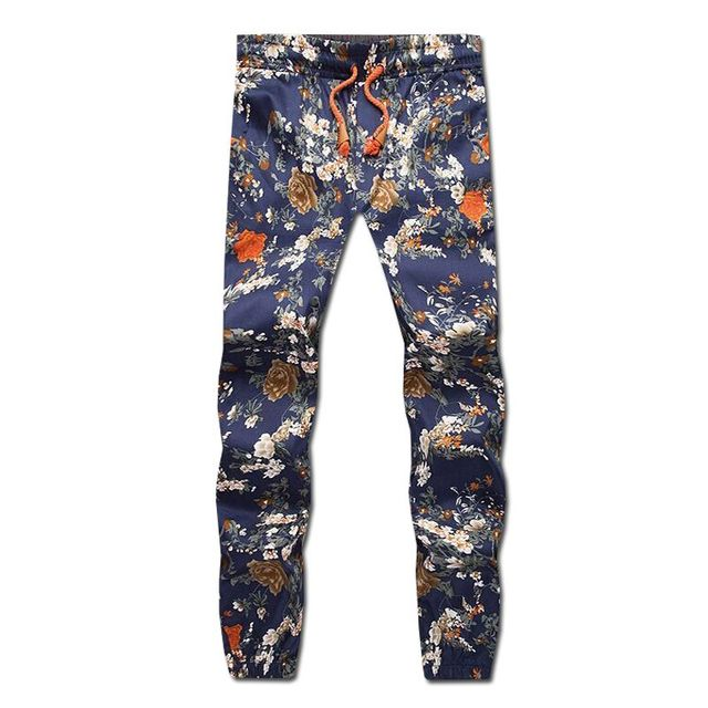 Men Drawstring Floral Joggers Hawaii beach pants Indian Pattern Inspiration Mens Patterned Joggers