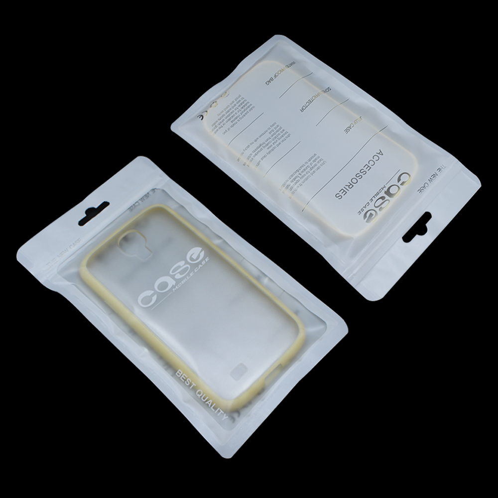 11*19cm Plastic Matte White/Clear Cell Phone Case Package Bag For iPhone 6 6s Mobile Phone Case Packing Zip Lock Poly Pack Pouch