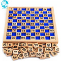La Educación Montessori Juguetes De Madera 1-100 Dígitos Cognitiva Juguete Matemáticas Enseñanza Logaritmo Versión Niño que Aprende Temprano el Regalo