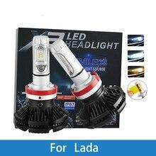 LED Car Headlight Bulb H4 H7 H11 H1 H3 12V 12000LM Auto Lamp For Lada 4x4/Niva/Samara/Signet/Vesta/Granta/Xray/Kalina/Priora lada samara 115 isbn 9785903091461