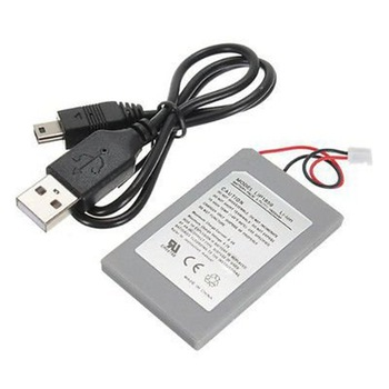 3.7V 1800mAh Rechargeable Battery Replacement Battery Power for Playstation 3 PS3 Gamepad Controller with USB Data Charger Cable image