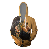 2019 Nipsey hussle singer 3D K Pop Zipper up Hoodies Sweatshirts harajuku Sweatshirt Tops Casual Pullover Streetwear Moletom
