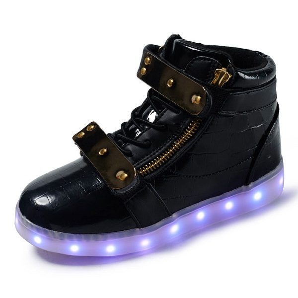 2017 Fashion LED luminous for kids children casual shoes glowing usb charging boys& girls sneaker with 7 colors light up new