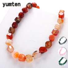 Yumten Agate Gemstone Necklace Beads Natural Stone Accessories Ethnic Women Statement Jewelry Geometric Male Star Bijoux Amber yumten agate necklace gemstone beads natural stone colares women jewelry crystal accessories statement females chain gioielli