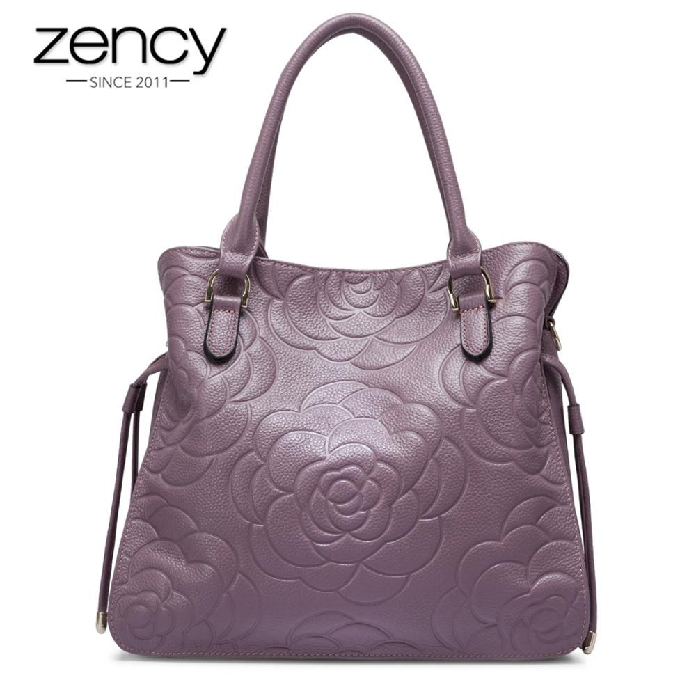 Zency 5 Colors New Sale 100 Real Cow Leather Fashion Women Shoulder Bag Lady Handbag Super