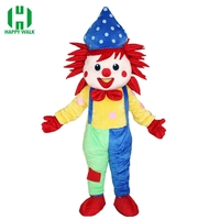 High Quality Carnival Party Clown Mascot Costume Clown Adult New Clown Mascot Costume Fancy Dress Clothing Halloween Party Suit