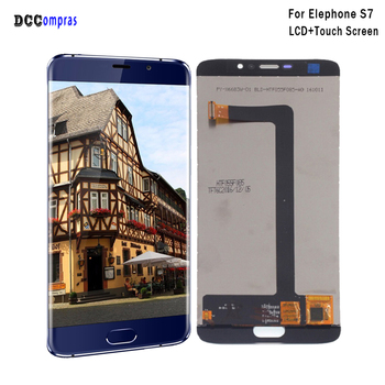 Original For Elephone S7 LCD Display Touch Screen Digitizer Assembly Replacement For Elephone S7 Display Screen LCD Tools high quality lcd display for prestigio muze a7 psp 7530 duo psp7530duo psp7530 lcd display digitizer assembly replacement