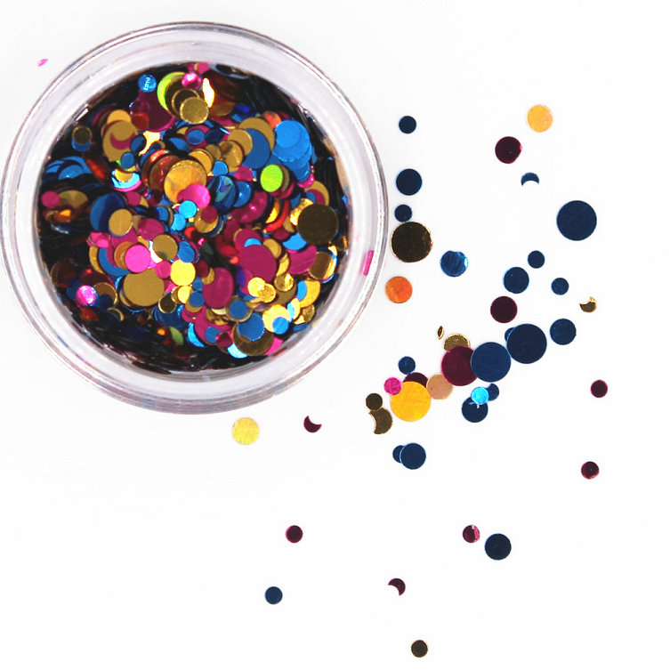 1 коробка блестящие круглые ультратонкие блестки Красочные Блестки для дизайна ногтей УФ гель 3D декоративный Маникюр DIY аксессуары NR234