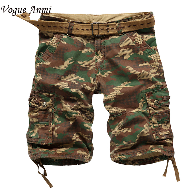 Men cargo Shorts Bermuda Masculina de marca 2016 Men Casual Cargo Shorts men Camo Cargo Shorts Military Camouflage Short