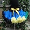 Детские дети сплошной цвет девушки пушистые одежда для танцев pettiskirts мило шифон принцесса юбки бесплатная доставка PETS-049