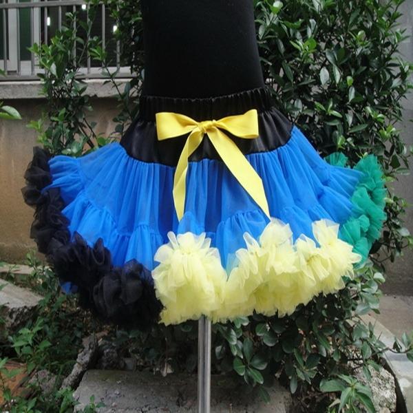 Bebé niños niñas de color sólido esponjoso desgaste pettiskirts baile lindo gasa princesa faldas tutú envío libre PETS-049