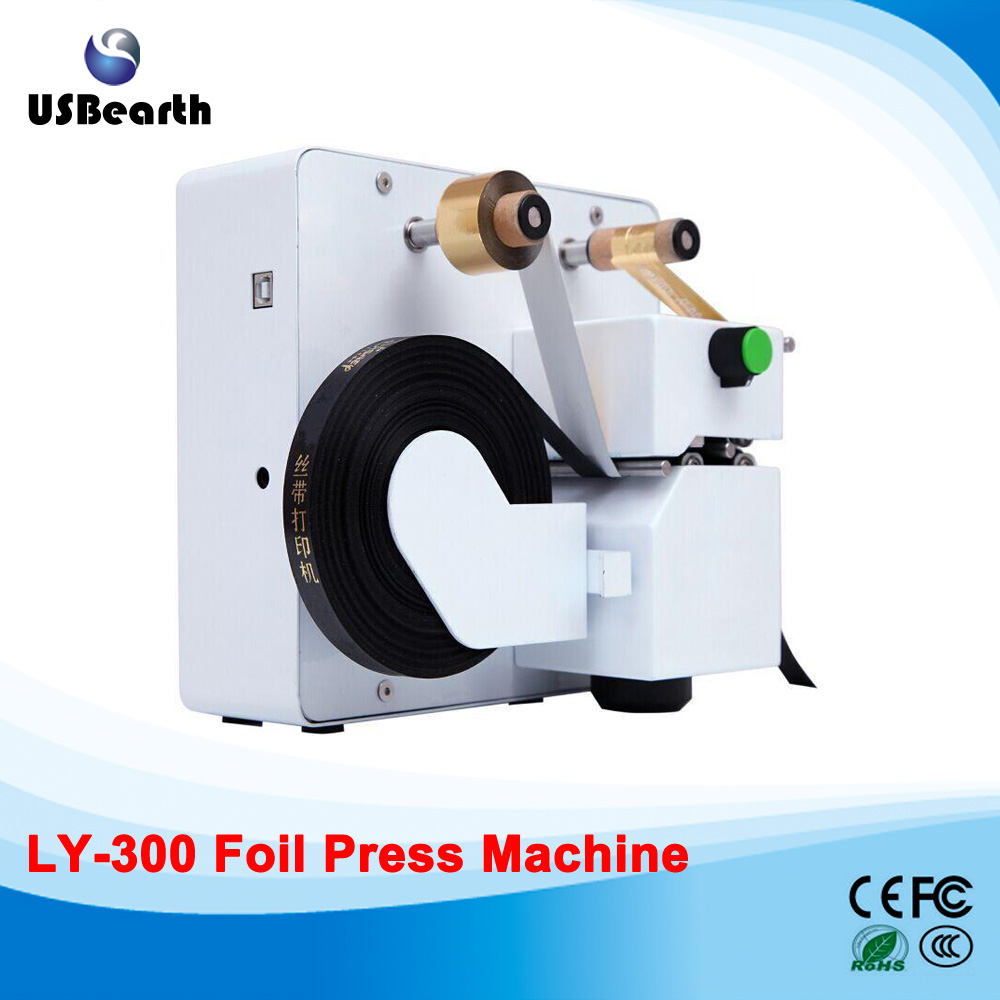 LY 300 digital hot foil color business card printer foil press machine ship to Russia free tax