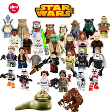 Одиночные продажи Jar Jar Binks K3PO Звездные войны Действие DIY Lando Han Grand Figures Building Blocks, совместимые с LegoINGly Starwars