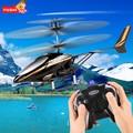Mini Drone Helicóptero de Brinquedo de Controle Remoto Com Controle Remoto para o Menino Caçoa o Presente Mini 2CH Infrared Elétrica CONDUZIU A Luz Cabeça