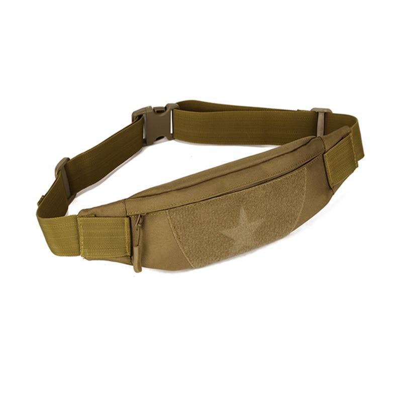 Kiváló minőségű férfiak tartós nylon Fanny derék csomag öv csípő bum katonai tervező férfi antitheft csillag támadás molle táska új