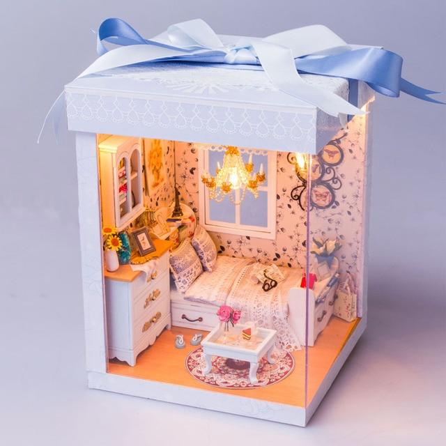 Gift Box Series Creative Handmade Wooden DIY Dollhouse Birthday Schoolgirl Assembling Diy Mini