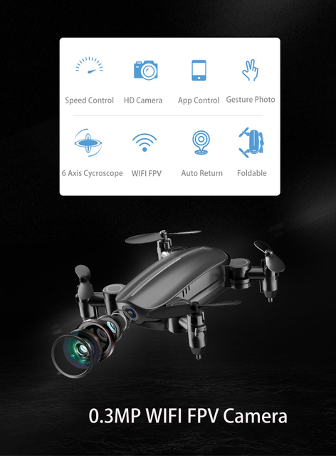 Teeggi T10 Mini Drone with Camera HD Foldable WiFi FPV RC Quadcopter Headless Mode Altitude Hold VS S9 Micro Pocket Selfie Dron 2