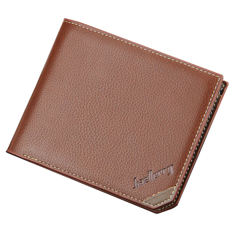 Baellerry Wallets Men Famous Brand Hasp Coin Pocket Short Purse Vintage Designer High Quality Card Holder --BID109 PM49 baellerry man wallets portefeuille homme card holder coin pocket cuzdan rfid male cuzdan purse clutch short purse with 6 styles