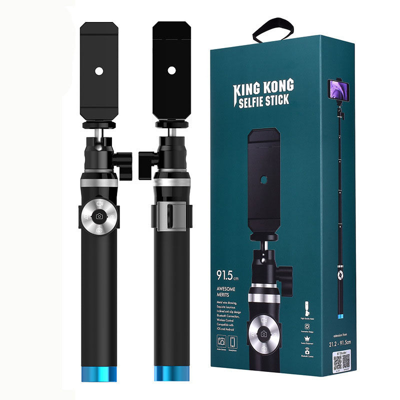 Selfie Stick Monopod with Clip Holder+Shutter Remote Controller+Tripods For iPhone X 8 7 7 plus 6s For Huawei Smartphone Camera bluetooth selfie stick extendable handheld monopod clip holder shutter remote controller tripods for iphone android with packag