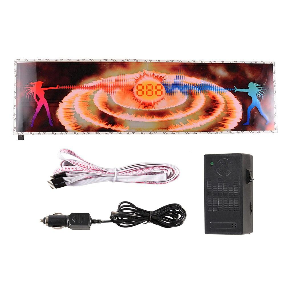 Автомобильное музыка ритм стикер 12V автомобиль звук активированного свет 888 логотип красочные светодиодной вспышкой наклейки