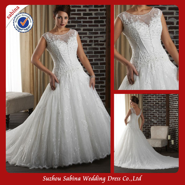 discount Sh0373 Custom Made Fat Ladies Wedding gown Plus Size ...