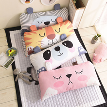 Bed Cusion Polyester Fabric Children Bed Cute Cartoon Animal Large Soft Pillow 50*100cm/19.7*39.4IN Removable and Washable