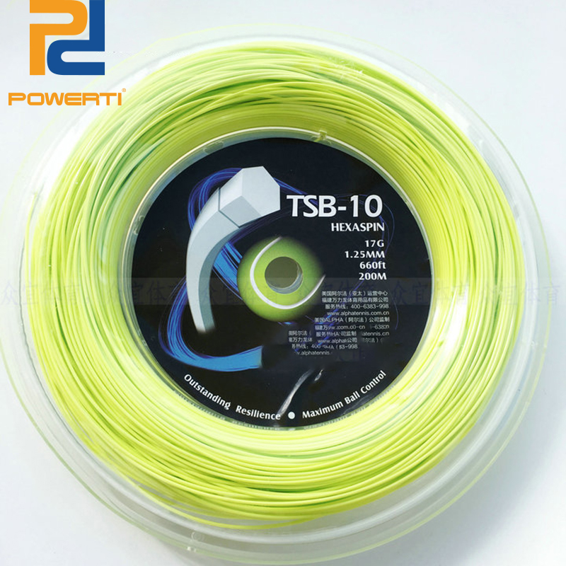 Powerti Hexagonal Polyester Tennis String 200m Reel String Durable 1.25mm Tennis Racket Tennis Racquet TSB10 sitemap 91 xml