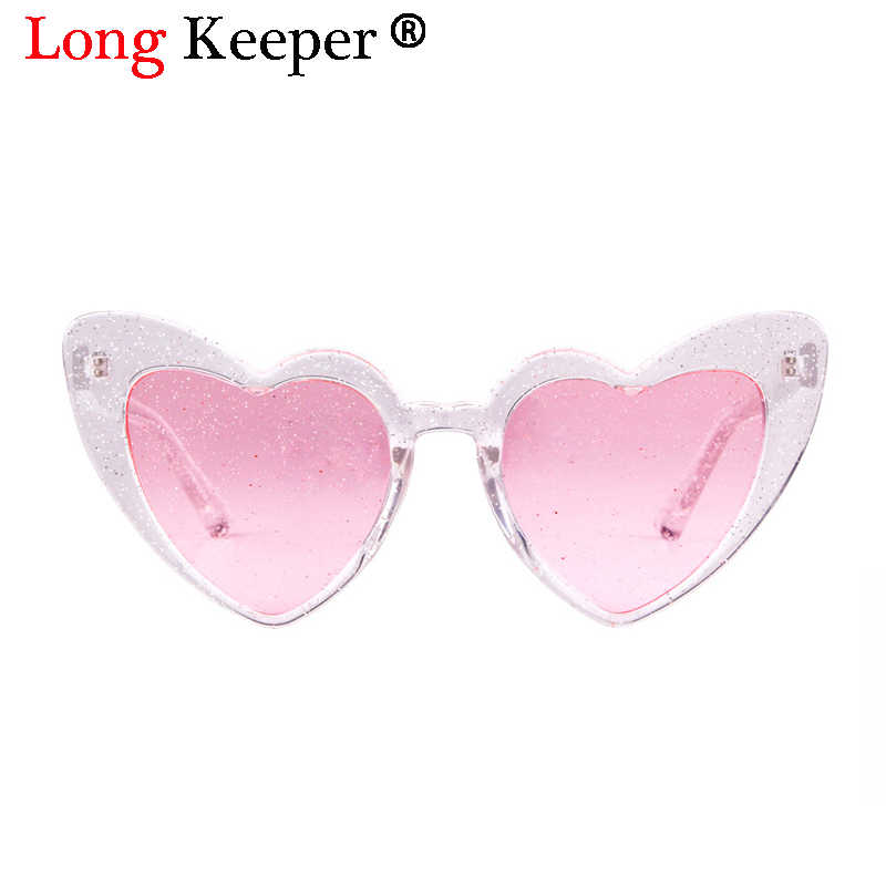 7eddf0b12af ... 2018 Love Heart Sunglasses Women Cute Sexy Retro Cat Eye Sun Glasses  Vintage 90s Glasses Pink ...