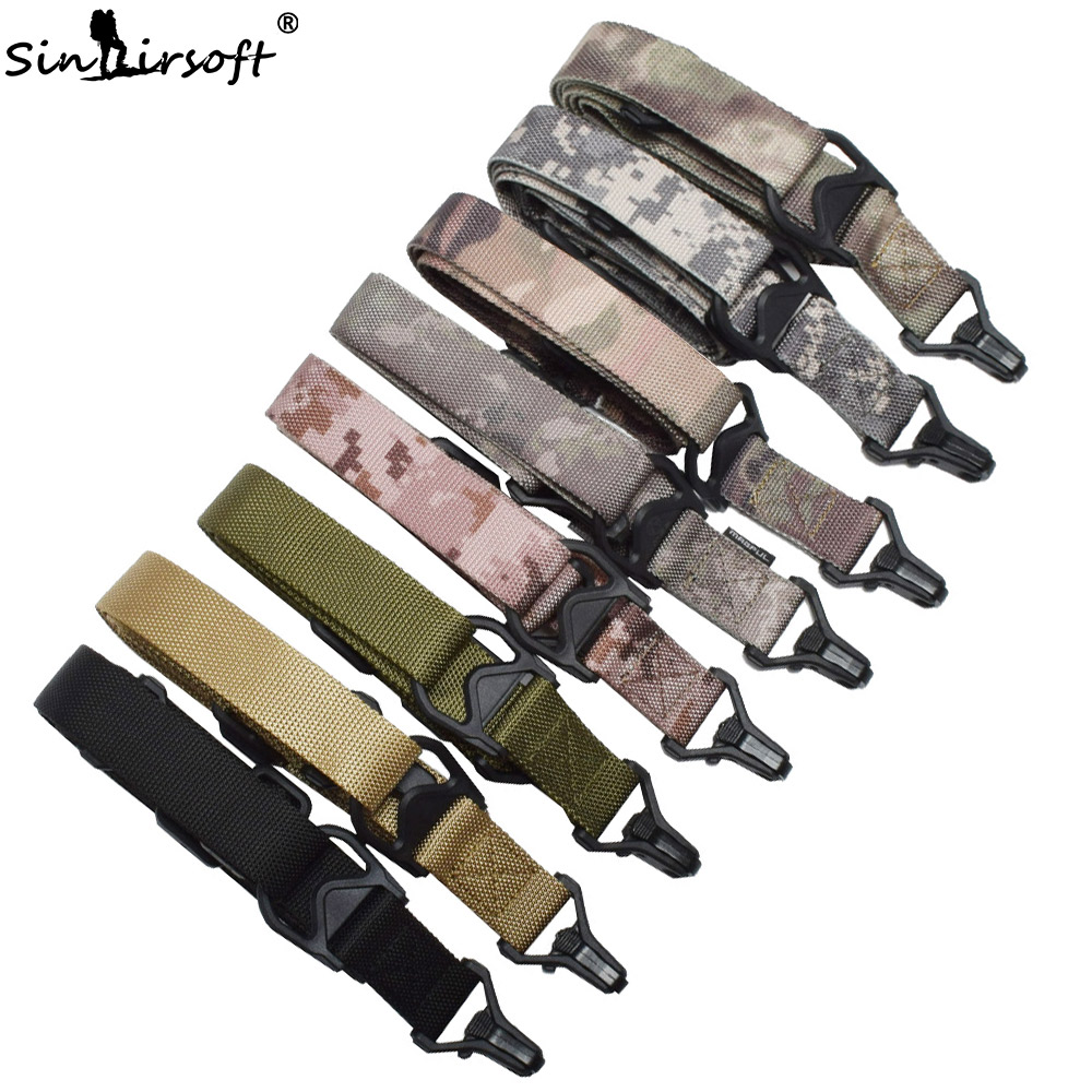 Hunting Dual Two 2 Points Rifle Sling Adjustable Nylon Multi-function Gun Strap Airsoft Tactical Shooting Outdoor Accessories