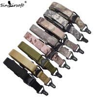 SINAIRSOFT MS THREE Sling Multifunction Nylon Tactical Belt With Safety Rope Military Rifle Sling Strap FOR