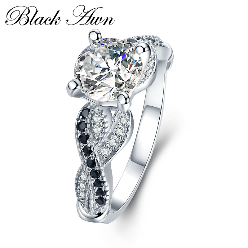 font b BLACK b font AWN 3 6g 100 925 Sterling Silver Jewelry Neo Gothic