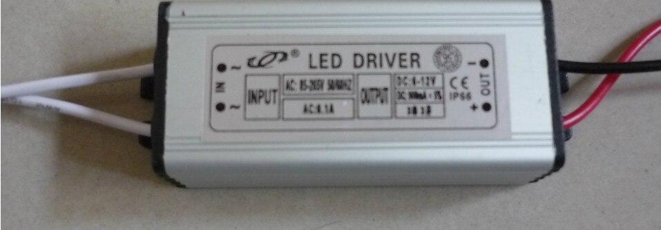 Новые модели! 20 шт./лот водонепроницаемый светодиодный драйвер 10 Вт 6-12 В выход Светодиодный источник питания внешний драйвер для прожектора