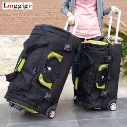 Большой ёмкость Дорожный чемодан, сумки на колесиках ткань Оксфорд сумка, для женщин дело тележки, для мужчин 27 30 дюйм