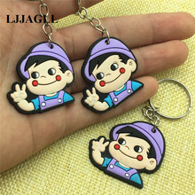 Cartoon Anime Poko Keychain Key Cover Fujiya Co Kids Straps 10pcs/lot PVC 37*90mm Holder Phone Hangings ACT010