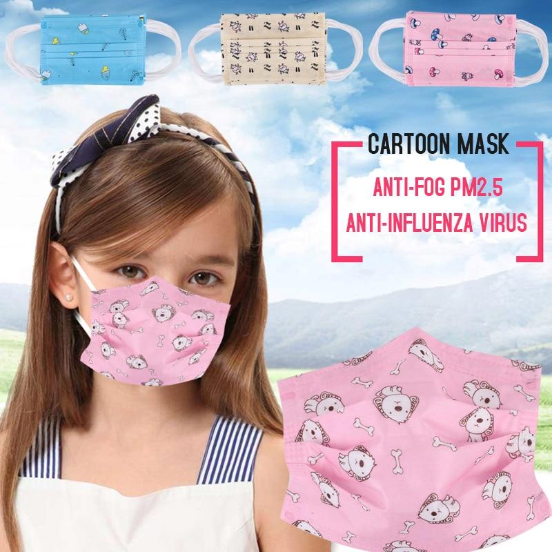 10 шт. 4 узора одноразовая маска Пылезащитная маска Outsports бактериальный фильтр респиратор Анти-туман и дымка прочная детская маска для лица