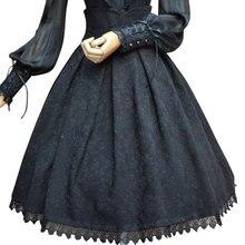 Falda Vintage Floral de Jacquard para mujer, falda Formal gótica, de cintura alta, Blanca/negra/burdeos, 2019
