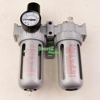 1 4 Air Compressor Oil Lubricator Moisture Water Trap Filter Regulator With Mount