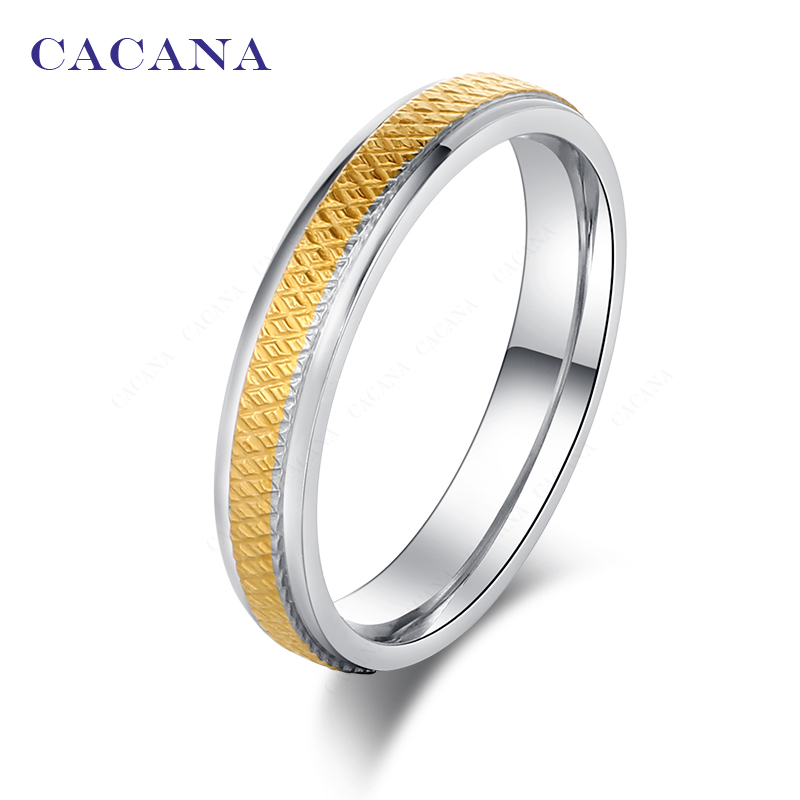 df30805441 CACANA Stainless Steel Rings For Women Gold Plated Cute Fashion ...