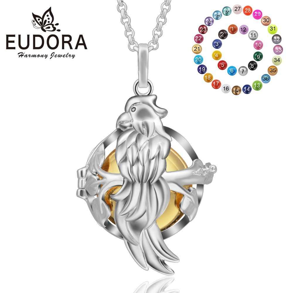 Eudora 20 มม. Harmony Chime Ball เม็กซิกัน Bola Eagle locket จี้การตั้งครรภ์เสียง Ball จี้สำหรับหญิงตั้งครรภ์ K201N20